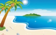 矢量夏日海滩 1 17 矢量夏日海滩 矢量壁纸