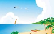 矢量夏日海滩 1 9 矢量夏日海滩 矢量壁纸