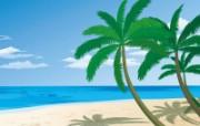 矢量夏日海滩 1 7 矢量夏日海滩 矢量壁纸