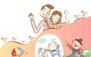 幸福家庭 1 12 幸福家庭 矢量壁纸