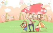 幸福家庭 1 1 幸福家庭 矢量壁纸