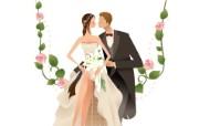 婚礼新娘 1 6 婚礼新娘 矢量壁纸