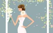 婚礼新娘 1 1 婚礼新娘 矢量壁纸