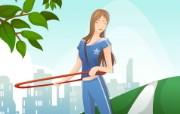 女性休闲运动 1 19 女性休闲运动 矢量壁纸