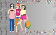矢量都市女性 1 15 矢量都市女性 矢量壁纸