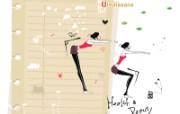 矢量运动女孩 1 14 矢量运动女孩 矢量壁纸