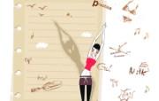 矢量运动女孩 1 10 矢量运动女孩 矢量壁纸