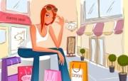 时尚购物女性 1 18 时尚购物女性 矢量壁纸