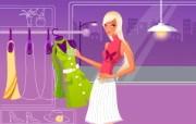 时尚购物女性 1 17 时尚购物女性 矢量壁纸