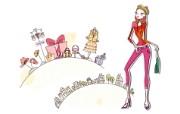 时尚购物女性 4 5 时尚购物女性 矢量壁纸