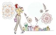 时尚购物女性 4 4 时尚购物女性 矢量壁纸
