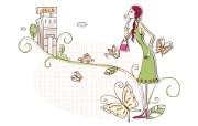 时尚购物女性 3 16 时尚购物女性 矢量壁纸