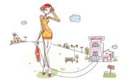 时尚购物女性 3 11 时尚购物女性 矢量壁纸