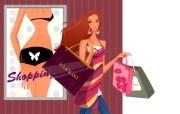 时尚购物女性 2 20 时尚购物女性 矢量壁纸