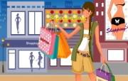 时尚购物女性 2 19 时尚购物女性 矢量壁纸