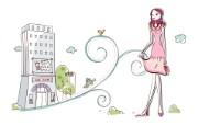 时尚购物女性 3 5 时尚购物女性 矢量壁纸