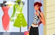 时尚购物女性 2 17 时尚购物女性 矢量壁纸