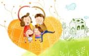 幸福家庭 2 20 幸福家庭 矢量壁纸
