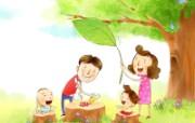 幸福家庭 2 15 幸福家庭 矢量壁纸