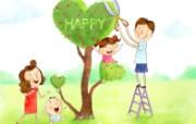 幸福家庭 2 12 幸福家庭 矢量壁纸