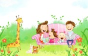 幸福家庭 2 10 幸福家庭 矢量壁纸