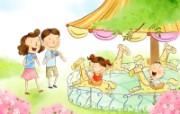 幸福家庭 2 9 幸福家庭 矢量壁纸