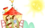 幸福家庭 2 8 幸福家庭 矢量壁纸