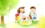 幸福家庭 2 7 幸福家庭 矢量壁纸