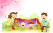 幸福家庭 2 4 幸福家庭 矢量壁纸