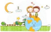 拯救地球 矢量壁纸