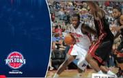 NBA 桌面壁纸 March 31 vs Heat 桌面壁纸 200910赛季底特律活塞常规赛 体育壁纸