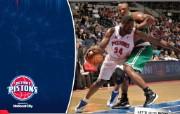NBA 桌面壁纸 March 2 vs Celtics 桌面壁纸 200910赛季底特律活塞常规赛 体育壁纸