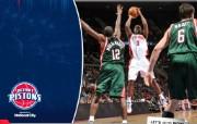 NBA 桌面壁纸 Feb 19 vs Bucks 桌面壁纸 200910赛季底特律活塞常规赛 体育壁纸