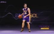 NBA 2009 10赛季洛杉矶湖人桌面壁纸 Pau Gasol桌面壁纸 200910赛季洛杉矶湖人壁纸 体育壁纸