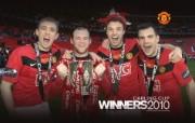 英超 2009 10赛季 Manchester United 曼联赛事壁纸 Carling Cup 2010 Rooney and co 200910赛季 Manchester United 曼联赛事壁纸 体育壁纸