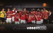 英超 2009 10赛季 Manchester United 曼联赛事壁纸 Carling Cup 2010 Team Celebration 200910赛季 Manchester United 曼联赛事壁纸 体育壁纸