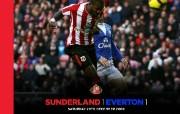 英超 2009 10赛季 Sunderland 桑德兰壁纸 Sunderland 1 Everton 1桌面壁纸 200910赛季 Sunderland 桑德兰壁纸 体育壁纸