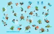 温哥华冬季奥运会吉祥物比赛项目桌面壁纸 2010 年温哥华冬奥会官方壁纸 体育壁纸