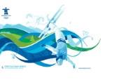 freestyle skiing aerials 自由式滑雪桌面壁纸 2010 年温哥华冬奥会官方壁纸 体育壁纸