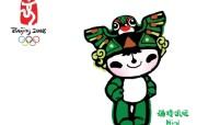 奥运福娃吉祥物与图标壁纸 体育壁纸