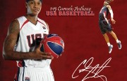 NBA 丹佛掘金队2008 09赛季官方桌面壁纸 Carmelo Anthony Team USA桌面壁纸 丹佛掘金队200809赛季壁纸 体育壁纸