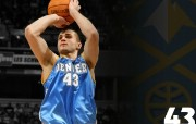 NBA 丹佛掘金队2008 09赛季官方桌面壁纸 Linas Kleiza桌面壁纸 丹佛掘金队200809赛季壁纸 体育壁纸