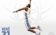 NBA 丹佛掘金队2008 09赛季官方桌面壁纸 Nenê桌面壁纸 丹佛掘金队200809赛季壁纸 体育壁纸
