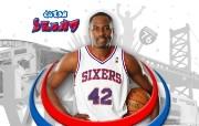 NBA Elton Brand壁纸下载 费城76人队200809赛季官方桌面壁纸 体育壁纸