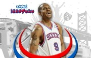 NBA Andre Iguodala壁纸下载 费城76人队200809赛季官方桌面壁纸 体育壁纸