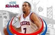 NBA Andre Miller壁纸下载 费城76人队200809赛季官方桌面壁纸 体育壁纸