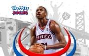 NBA Thaddeus Young壁纸下载 费城76人队200809赛季官方桌面壁纸 体育壁纸