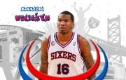 NBA Marreese Speights壁纸下载 费城76人队200809赛季官方桌面壁纸 体育壁纸