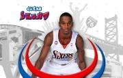 NBA Kareem Rush壁纸下载 费城76人队200809赛季官方桌面壁纸 体育壁纸