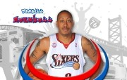 NBA Donyell Marshall壁纸下载 费城76人队200809赛季官方桌面壁纸 体育壁纸